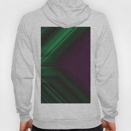Ultra Violet and Emerald Green Abstract Design Hoody