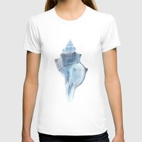 shell T-shirts featuring shell by Eazy Verdeacqua