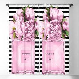 Pink peony, perfume art Blackout Curtain