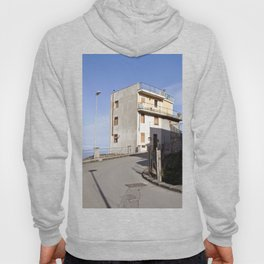Mountain Village at the Sea of Forza d'Agro in Sicily Hoody