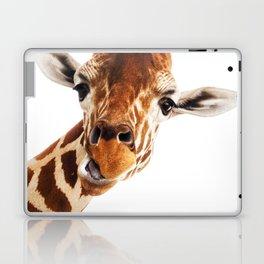 Giraffe Portrait // Wild Animal Cute Zoo Safari Madagascar Wildlife Nursery Decor Ideas Laptop & iPad Skin