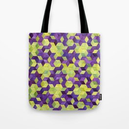 Triaxial Blossoms and Dots Tote Bag