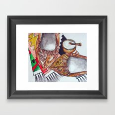 Opinci - Traditional shoes from Romania  Framed Art Print