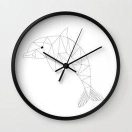 Geometric Dolphin Wall Clock