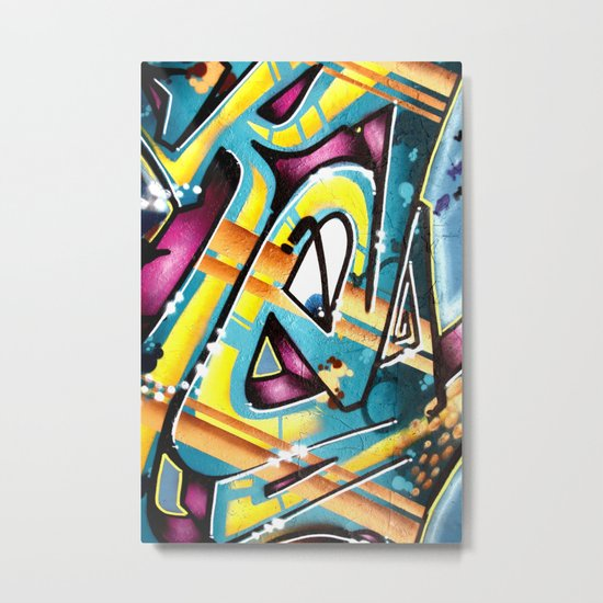 Graffiti E Metal Print