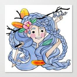 Girl in distress Canvas Print