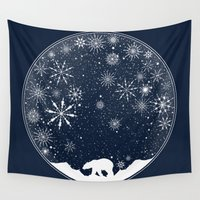 globe Wall Tapestries featuring Snow Globe by Tobe Fonseca