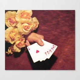 Poker Hand Canvas Print