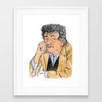 vonnegut Framed Art Prints featuring Vonnegut by McHank