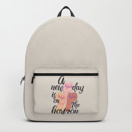 A new day is on the horizon Backpack