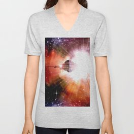 Hyperspace - Transmission. Unisex V-Neck
