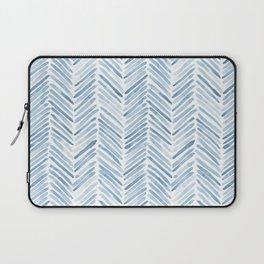 Baby blue watercolor herringbone  Laptop Sleeve