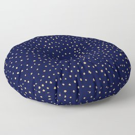 Dotted Gold & Midnight Floor Pillow