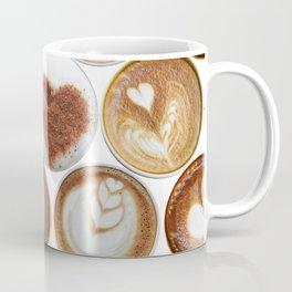 Latte Polka Dots in White Coffee Mug