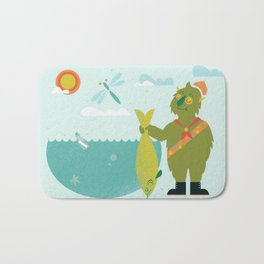 Harold Goes Fishing Bath Mat