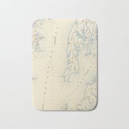 Vintage Annapolis MD & Chesapeake Bay Map (1902) Bath Mat