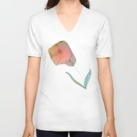 tulip V-neck T-shirts featuring Tulip by Brontosaurus