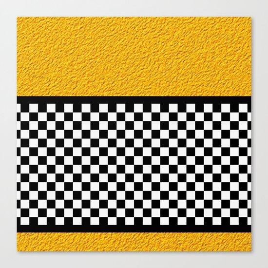 Checkered/Textured Gold Canvas Print