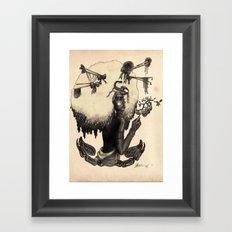 S C O R P I O - Black and White edition Framed Art Print