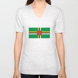Dominica country flag Unisex V-Neck