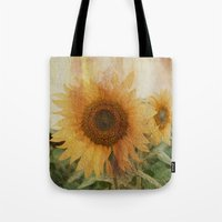 sunflower Tote Bags featuring sunflower by VanessaGF