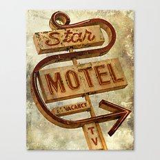 Vintage Grunge Motel Sign Canvas Print