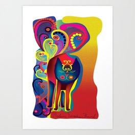 Madam Evangelina Flourish Art Print