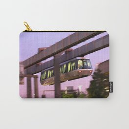 Skytrain at Airport Dusseldorf at night Carry-All Pouch