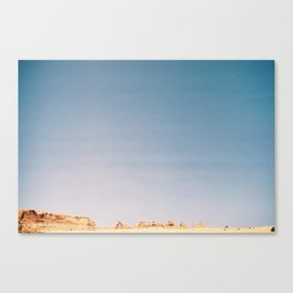 Delicate Arch from a Distance Canvas Print
