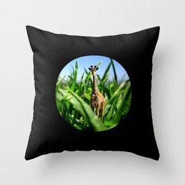 Miniature Giraffe Throw Pillow