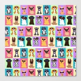 Doggi Breeds summer by Diseños que ladran Canvas Print