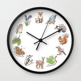 British Woodland Wildlife Wall Clock