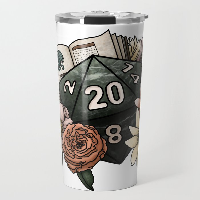 Dungeon Master D20 Tabletop RPG Gaming Dice Travel Mug