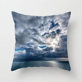 Stormy skies Throw Pillow