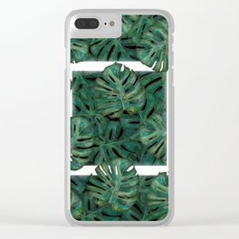 Square Between the Leaves Clear iPhone Case
