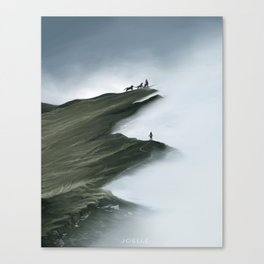 Foggy Landscape Digital Painting Canvas Print