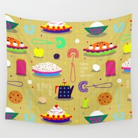 dessert Wall Tapestries featuring Save Room For Dessert by beach please