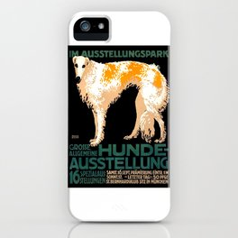 Vintage German Dog Show Advertising Poster iPhone Case
