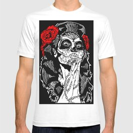 Girl With Sugar Skull, Day of the Dead T-shirt