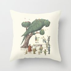 The Night Gardener - The Parrot Tree Throw Pillow