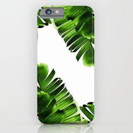 Green banana leaf iPhone Case