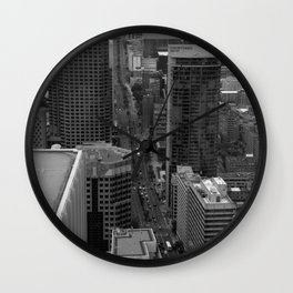 Montreal downtown in B&B Wall Clock