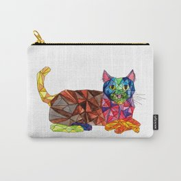 Colourful Geomatric Cat Carry-All Pouch