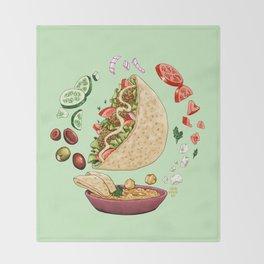 Falafel Mandala Throw Blanket