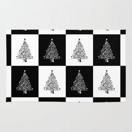 Christmas Tree Chess Rug