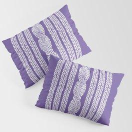 Cable Stripe Violet Pillow Sham