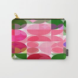 Pink Roses in Anzures 2 Abstract Circles 3 Carry-All Pouch