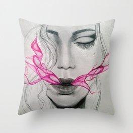 exhale (part 2) Throw Pillow