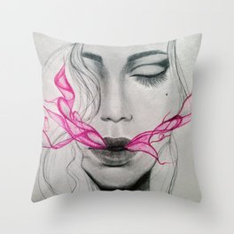 exhale (part 2) Throw Pillow