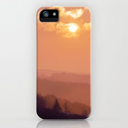 Sunset Over the Woods iPhone Case
